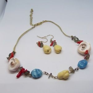 BOGO Bright and Funky Necklace and Earrings Set